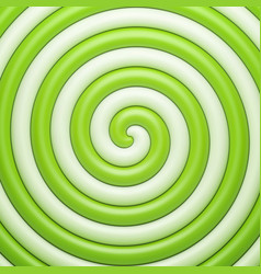 abstract green candy spiral background vector image vector image