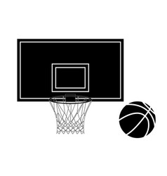 basketball hoop and basketball ball vector image