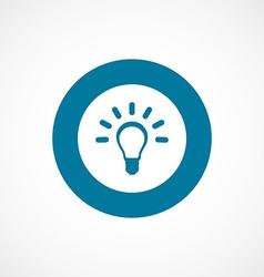 idea bold blue border circle icon vector image vector image