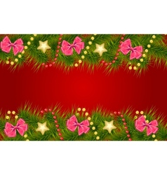 Merry Christmas Card Template vector image