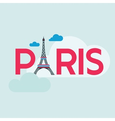 Paris Card - with Eiffel Tower vector image vector image