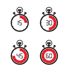 stopwatch timer set vector image