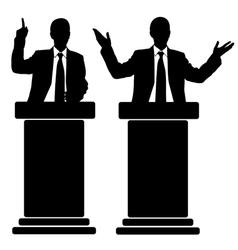 business men at tribune vector image