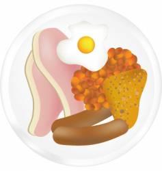 fried breakfast vector image vector image