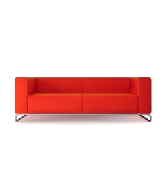 Red Sofa Isolated vector image vector image