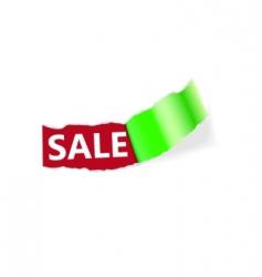 sale page corner vector image vector image