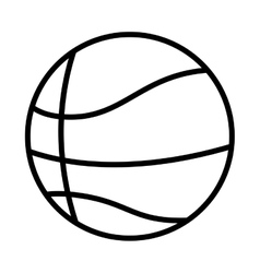 silhouette monochrome with basketball ball vector image vector image