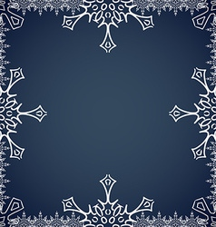Christmas frame with snowflakes on the edges vector image vector image