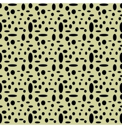 Circle and oval seamless pattern vector image vector image