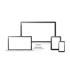 Computer notebook tablet and phone vector image