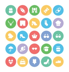 Fashion Colored Icons 2 vector image vector image