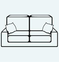 Sofa furniture vector image
