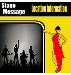 rock concert flyer vector image