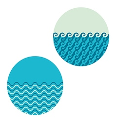 wave in circle set vector image vector image