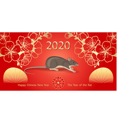 2020 chinese new year rat greeting card vector