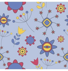 Abstract cute background flower seamless pattern vector