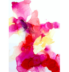 abstract watercolor art hand painted vector image