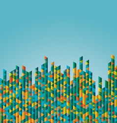 Aqua Triangle Background vector image