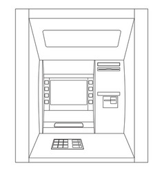 Atm outline drawing vector