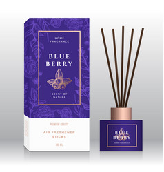 Blueberry home fragrance sticks abstract vector