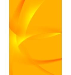 Bright orange wavy background vector