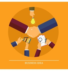 Business idea concept vector