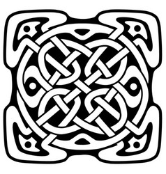 celtic folk ornament vector image