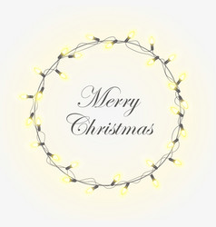christmas light background with bright vector image