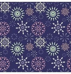 Christmas seamless pattern Light color snowflake vector image