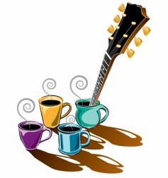 Coffee guitar vector