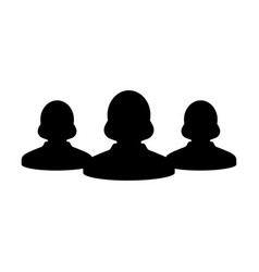 customer icon female group of persons symbol sign vector image