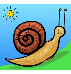 cute snail cartoon vector image