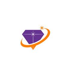 Diamond swoosh logo design template vector