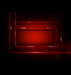 Digital technology futuristic red background to vector
