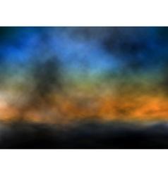 dusk sky vector image
