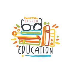 Education label back to school logo graphic vector