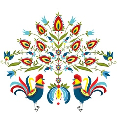 Embroidery roosters vector