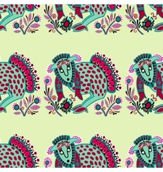 Ethnic seamless pattern fabric with unusual tribal vector