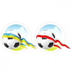 Euro 2012 soccer emblem vector image
