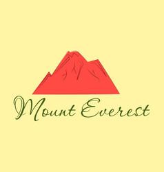 Everest - snowbound himalayas mountain label vector
