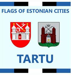flag of estonian city tartu vector image