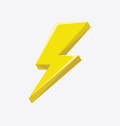 flash sign thunder yellow vector image