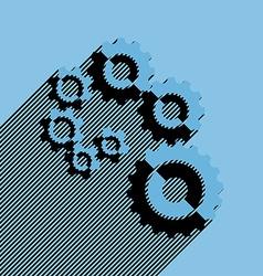 Flat cogwheels vector image