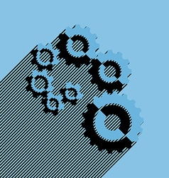 Flat cogwheels vector