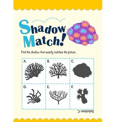 Game template for shadow matching coral vector