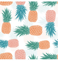 Geometric tribal pineapples seamless pattern vector
