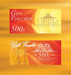 Gift Voucher Gift certificate Coupon template gift vector image vector image