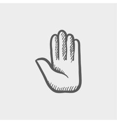 Hand sketch icon vector