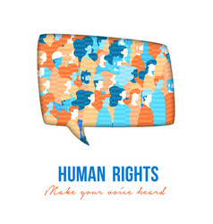 human rights people group speech buble vector image