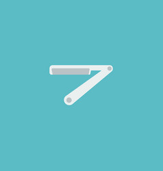 Icon flat straight razor element vector